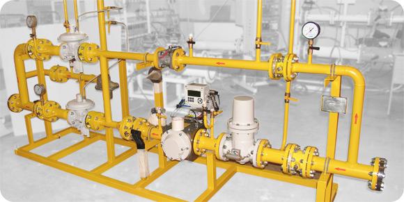 Пункты учёта и редуцирования газа серии ПУРДГ-Р-100-Р на раме