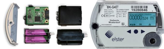 GPRS модем и элементы питания встроены в счетную голову счетчика BK-G4ET