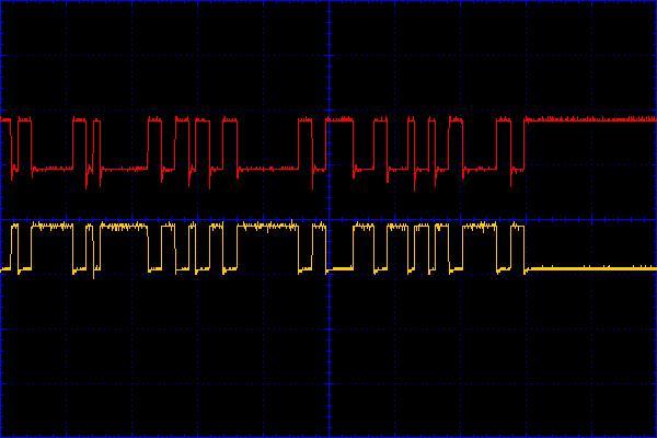 Рисунок 1 - Сигнал в линиях T- и T+