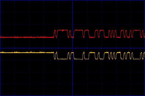Рисунок 2 - Сигнал в линиях R+ и R-
